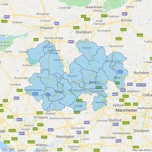 Coverage for Metro Plumb Bolton